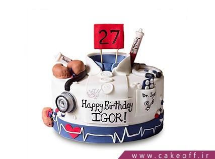 کیک روز پزشک دکتر خوبم | کیک آف