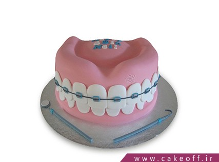 کیک روز پزشک - کیک روز دندانپزشک - کیک ارتودونسی | کیک آف