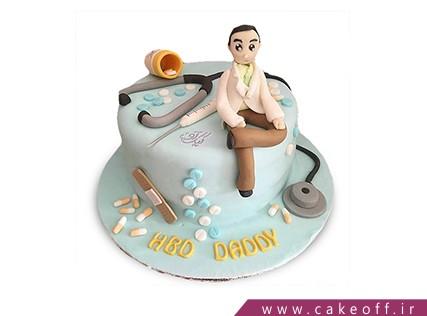 کیک روز پزشک آقای دکتر | کیک آف
