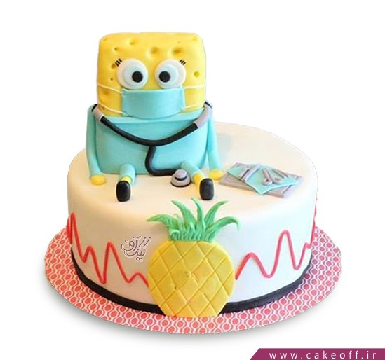 کیک باب اسفنجی دندانپزشک می شود