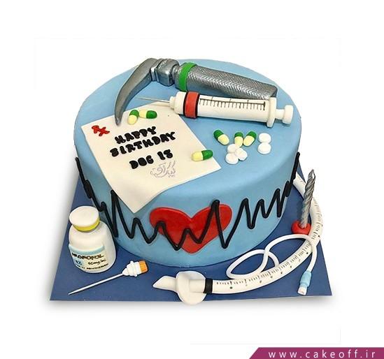 کیک روز پزشک - کیک روز دندانپزشک - کیک آمالگام | کیک آف