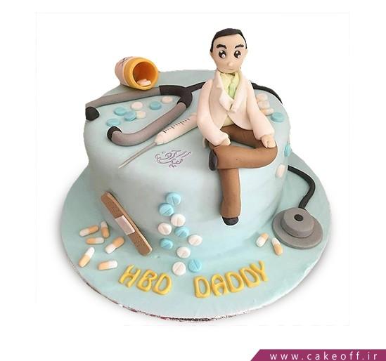 کیک روز پزشک آقای دکتر