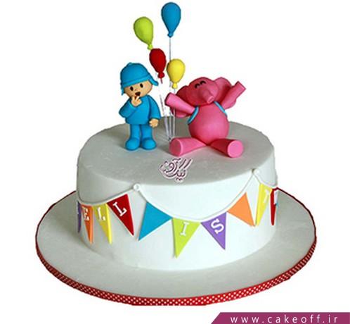 کیک پوکویو و بادکنک های رنگی | کیک آف