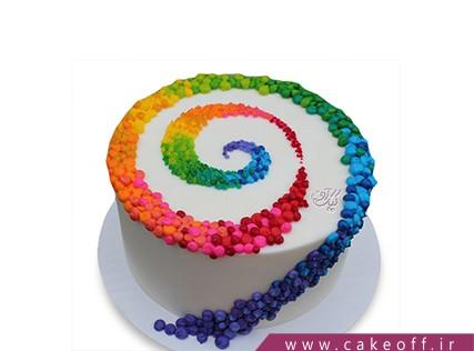 سفارش کیک تولد رنگین کمان - کیک تولد خامه رنگی | کیک آف