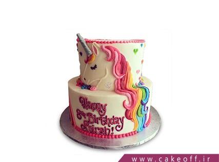 سفارش کیک تولد کارتونی - کیک یونیکو اسب تک شاخ | کیک آف
