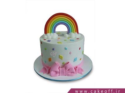 کیک تولد رنگین کمان - کیک ابر و رنگین کمان | کیک آف