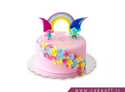 کیک تولد رنگین کمان - کیک وروجک ها بر فراز رنگین کمان | کیک آف