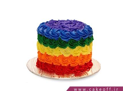 کیک تولد رنگین کمان - کیک از همه رنگ | کیک آف