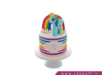 کیک تولد رنگین کمان - کیک دوستی یونیکو و رنگین کمان | کیک آف
