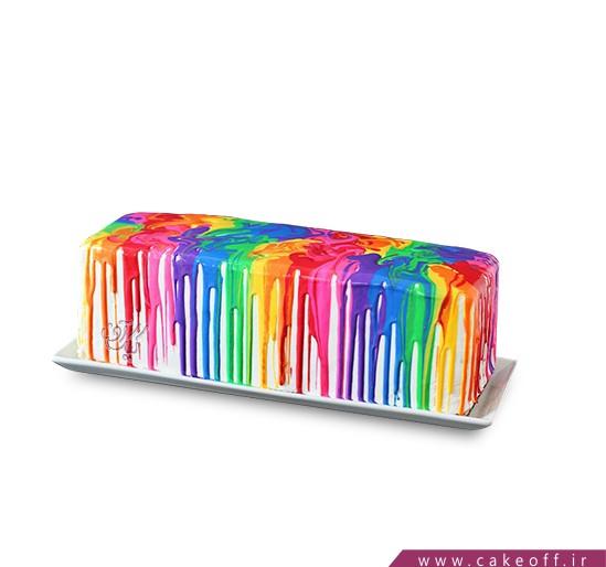 کیک همه رنگ های خدا