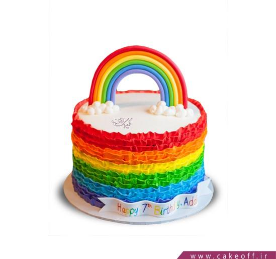 کیک رنگین کمان هفت رنگ