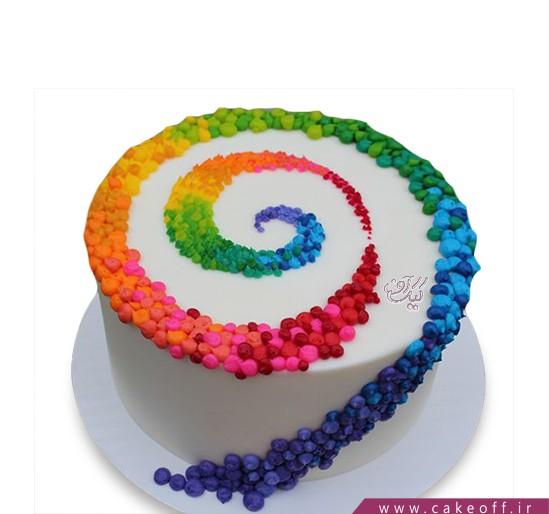 کیک تولد خامه رنگی