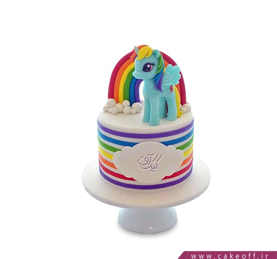 کیک دوستی یونیکو و رنگین کمان