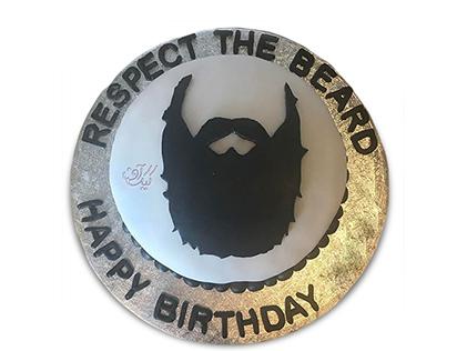 سفارش کیک روز پدر - کیک روز مرد ریش قشنگ | کیک آف
