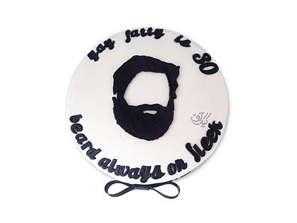 خرید کیک تولد مردانه - کیک ریش بهت میاد | کیک آف