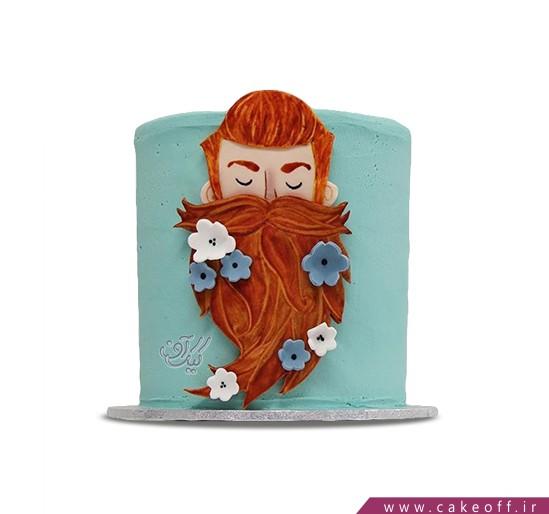 کیک روز مرد - کیک روز پدر ریش گلی | کیک آف
