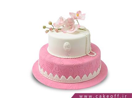 کیک تولد دخترانه گل های صورتی | کیک آف