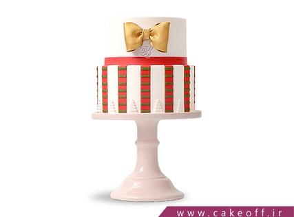کیک تولد قرمز راه راه | کیک آف