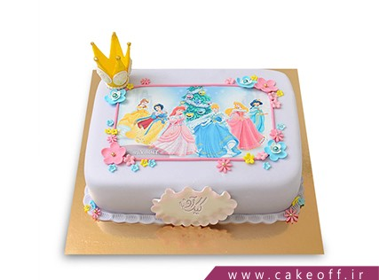 چاپ عکس روی کیک در اصفهان - کیک پرنسس های نوستالژیک | کیک آف