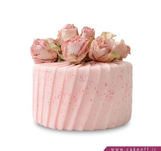 کیک سالگرد ازدواج - کیک عاشقانه عطر گل محمدی | کیک آف