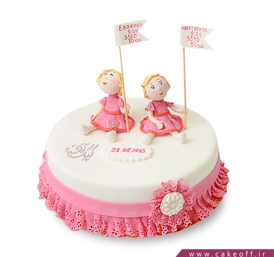 کیک تولد دو قلوهای دوست داشتنی | کیک آف