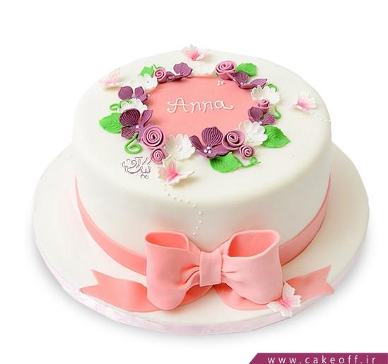کیک گل دخترون