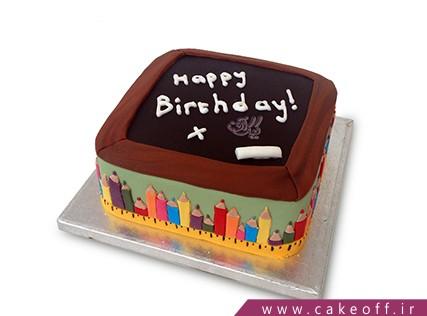 کیک تولد معلم - کیک روز معلم بهترین معلم دنیایی | کیک آف