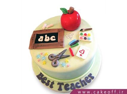 کیک روز معلم سر زنگ حساب | کیک آف