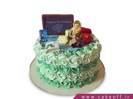 مدل کیک برای روز معلم - کیک معلم صبورمی | کیک آف