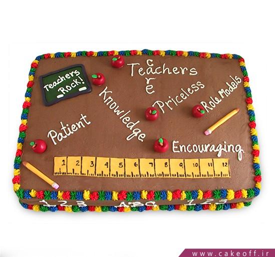 کادو برای روز معلم - کیک روز معلم تیچر جان | کیک آف