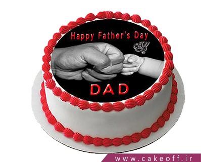 سفارش کیک روز پدر - کیک تصویری من و پدر | کیک آف