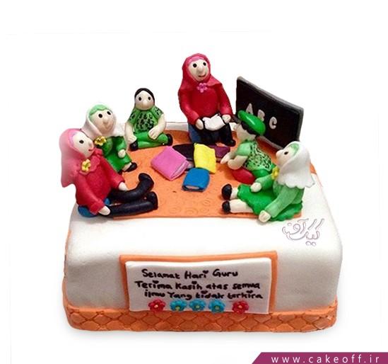 کیک روز معلم مکتب خونه