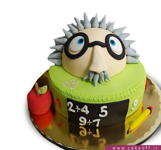 بهترین کادو برای روز معلم - کیک روز معلم آلبرت انیشتین | کیک آف