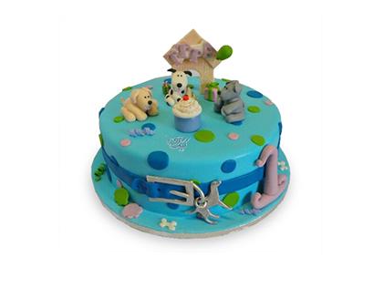 کیک تولد بچه گانه - کیک کارتونی مزرعه سگ ها | کیک آف