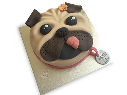 کیک تولد بچه گانه - کیک کارتونی پیت بول | کیک آف