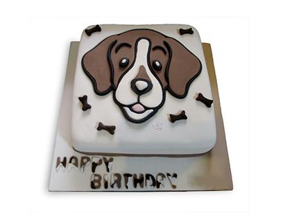 کیک کارتونی - کیک تولد بچگانه سگ مهربان | کیک آف