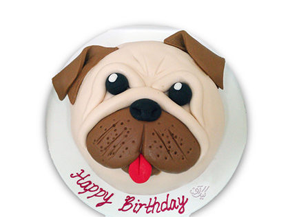 کیک تولد بچه گانه سگ آقای پتی بل - کیک کارتونی | کیک آف