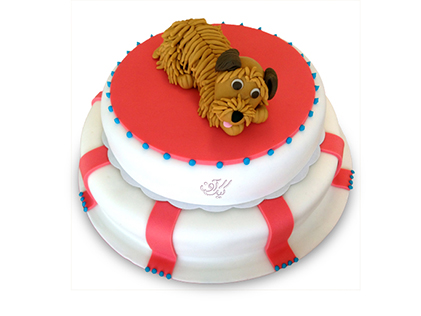 کیک تولد بچه گانه سگ قهوه ای | کیک آف