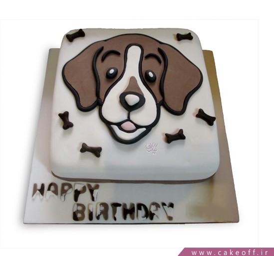 کیک تولد بچه گانه سگ مهربان
