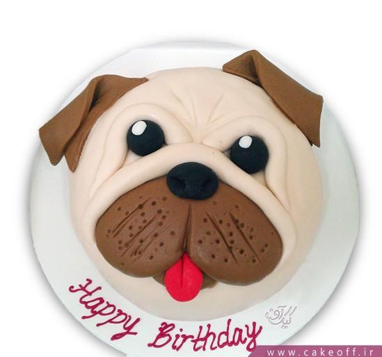کیک تولد بچه گانه سگ آقای پتی بل