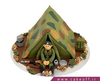 کیک سربازی قرارگاه در شب | کیک آف