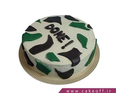 کیک مدل سربازی - کیک پایان خدمت لذت بخش | کیک آف