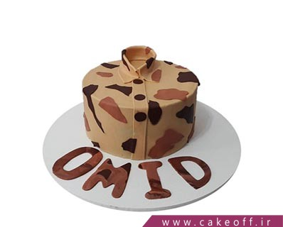کیک پایان خدمت - کیک سرباز جنتلمن | کیک آف