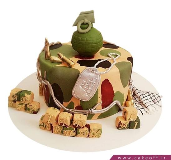 کیک سربازی - کیک پایان خدمت - کیک خاطرات جنگ | کیک آف