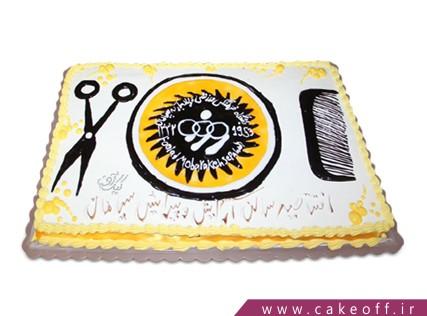 کیک فوتبالی - کیک سپاهان - کیک زرد طلایی | کیک آف
