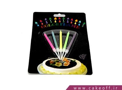 شمع تولد رنگی سوز | بسته 5 عددی