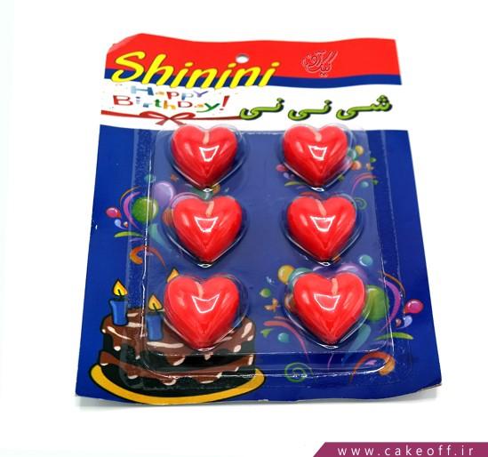شمع تولد عاشقانه - شمع قلبی بسته 6 عددی   کیکآف