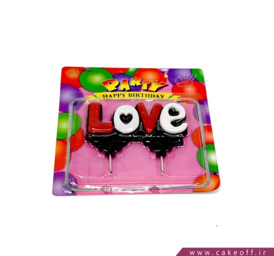 شمع تولد عاشقانه love | کیکآف