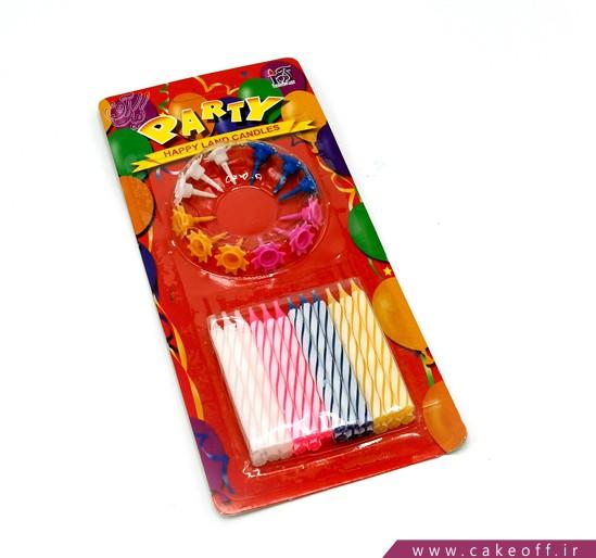 خرید شمع تولد - شمع تولد مدادی بسته 24 عددی | کیکآف