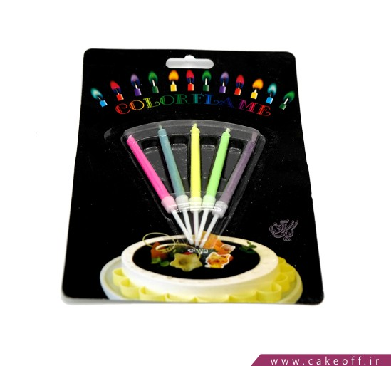 انواع شمع تولد - شمع رنگی سوز بسته 5 عددی | کیک آف